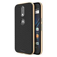 Чехол накладка IPAKY TPU + бампер PC для Motorola Moto G4 G4 Plus золотистый