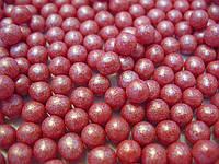 Посыпка шарики красный жемчуг 7 мм,  50 грамм