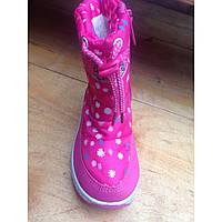 Сапожки дутики для девочки, недорогая детская зимняя обувь р.21-25