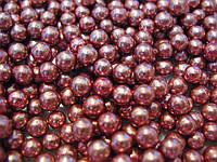 Посыпка шарики перламутровые розовые 5 мм,  50 грамм