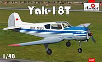 1:48 Сборная модель самолета Як-18Т, Amodel 4807