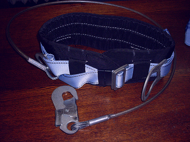 Пояс предохранительный ПБ1-м с металлическим троссом
