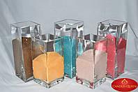 Ваза прямоугольная для насыпной свечи, флористики 250х100х100 мм