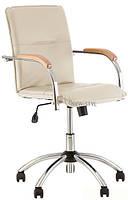 Кресло Самба бежевое и светлые подлокотники Новый Стиль Samba GTP V-18 1.007