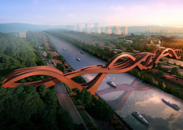 Пешеходный мост бесконечность