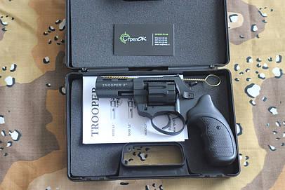 Револьвер под патрон Флобера TROOPER-3,0 S рукоятка пласт.черн.