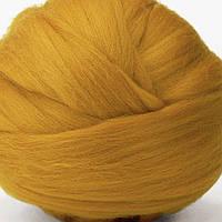 Шерсть для валяния австралийский меринос 18 мкм шафран натуральная шерсть для сухого валяния, мокрого валяния)
