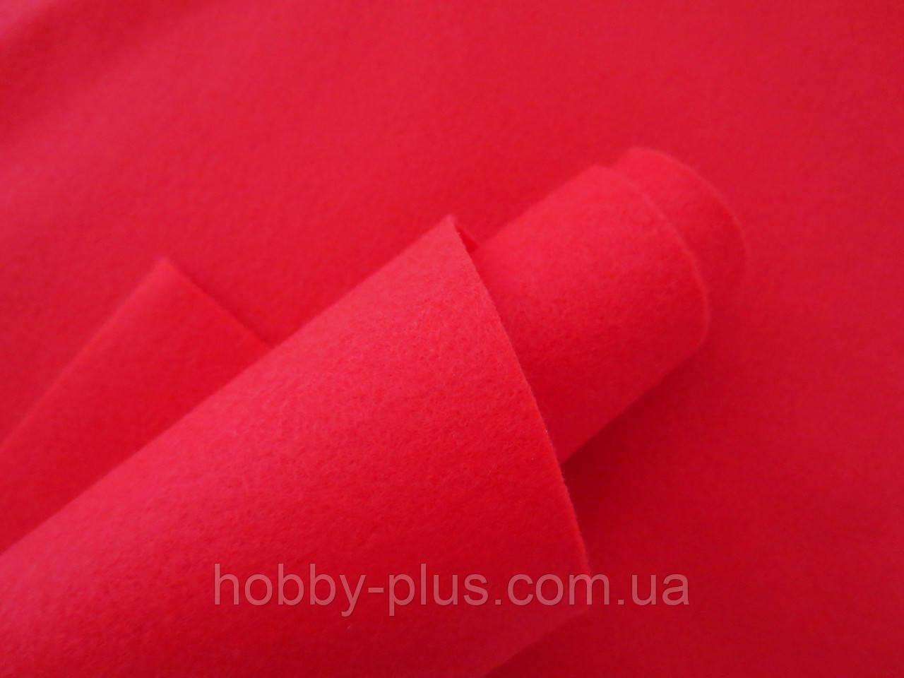 Фетр корейский мягкий, 1.2 мм, 20x30 см, КРАСНЫЙ