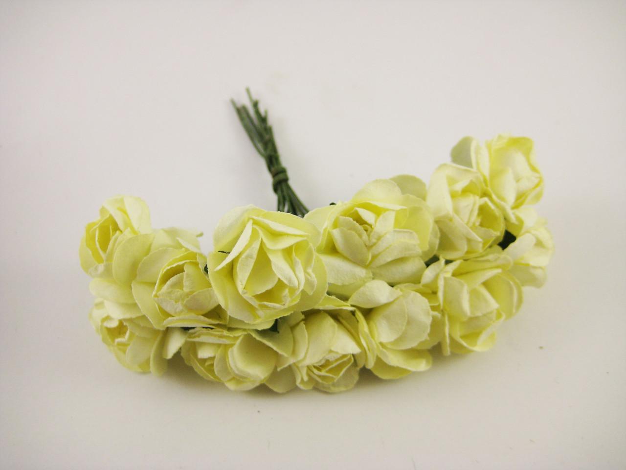 Роза Желтая с проволокой