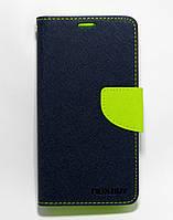 Чехол книжка для Lenovo A2020 Vibe C боковой с отсеком для визиток, Mercury GOOSPERY Синий