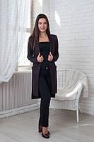 Женский кардиган Элис шоколадного цвета