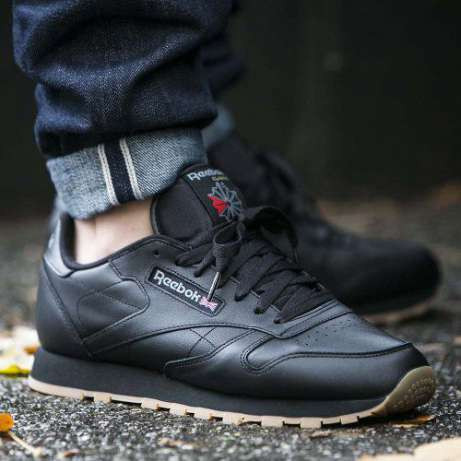 Кроссовки REEBOK Classic Black Leather 49800 (Оригинал)