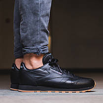 Кроссовки REEBOK Classic Black Leather 49800 (Оригинал), фото 2