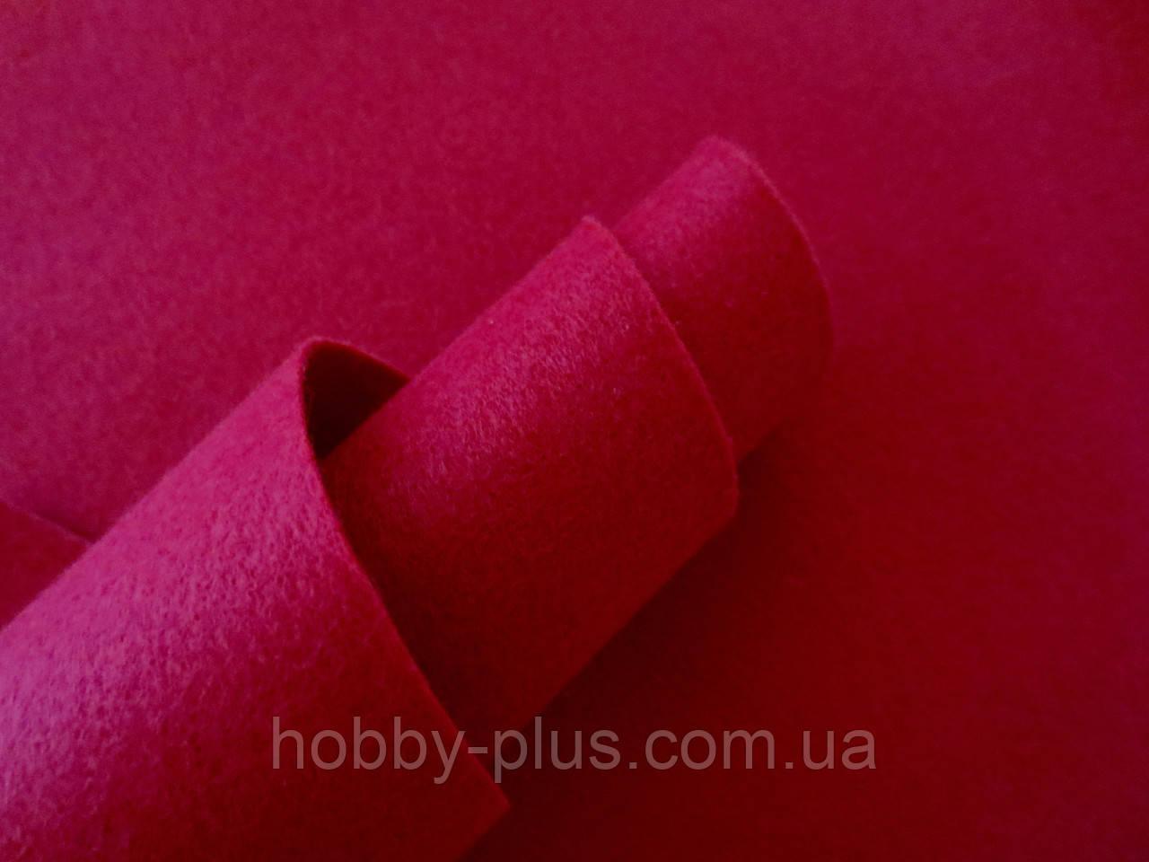 Фетр корейский мягкий, 1.2 мм, 20x30 см, БОРДОВЫЙ
