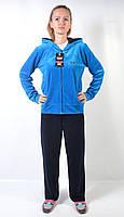 Женский брендовый спортивный костюм больших размеров - (синий)