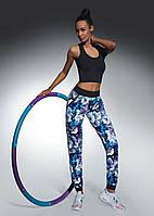 Спортивные штаны с манжетами. Цветочный принт Chalice Bas Bleu (Бас Блю)