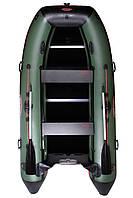 Килевая моторная лодка Vulkan TMK370 Зелено-черная
