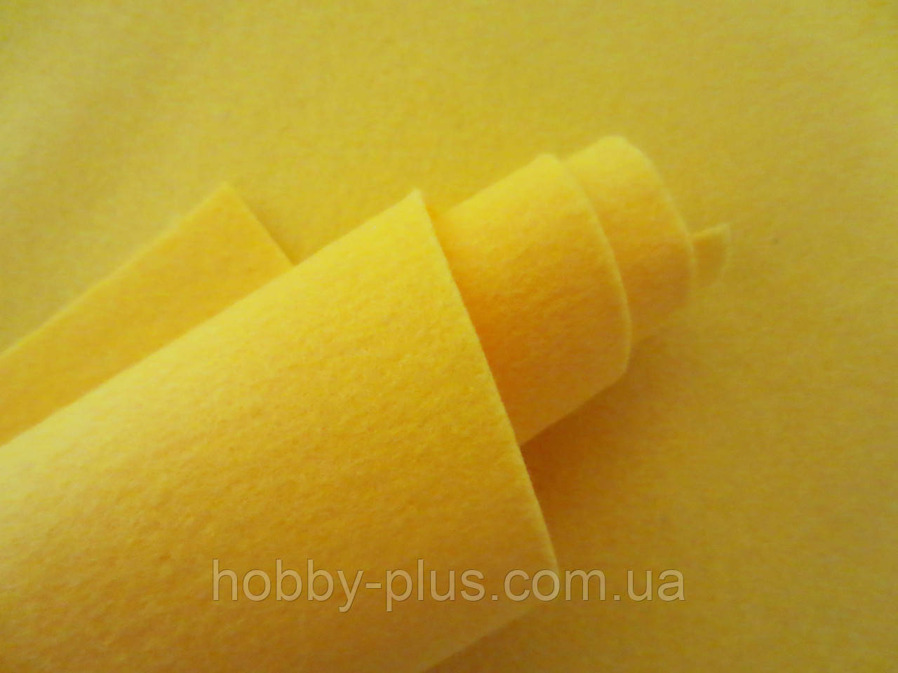 Фетр корейский мягкий, 1.2 мм, 20x30 см, ЖЕЛТЫЙ