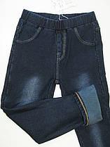 Утеплённые леггинсы джинсовые для девочек, размеры 122.128, арт А-47