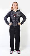 Женский брендовый спортивный костюм больших размеров - Apple - (леопард)