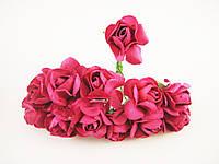 Роза Розовая с проволокой, фото 1