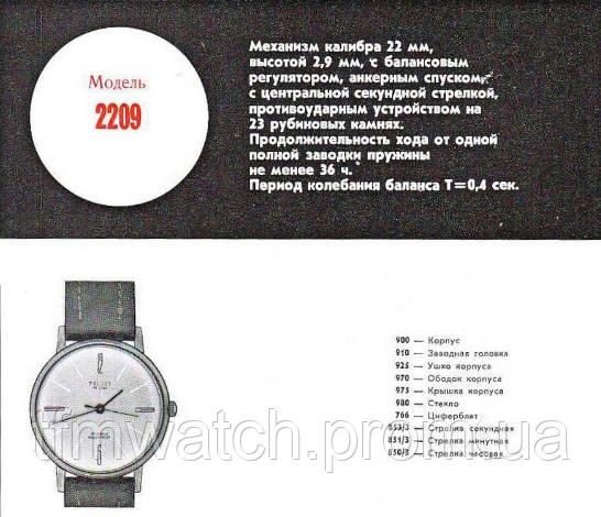 Заводские характеристики механизма полет 2209
