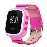 Розовые Q60 Оригинал! Детские умные часы телефон, gps слежение, Smart baby watch gps