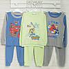 Пижама на мальчика на 3 или 2-4года, хлопок-интерлок 2203ино , в наличии 98,104,110  Рост
