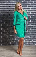 Женский  велюровый халат с поясом мята, фото 1