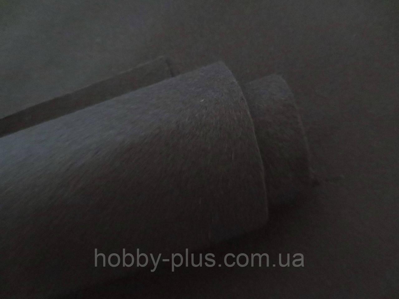 Фетр корейский мягкий, 1.2 мм, 20x30 см, ЧЕРНЫЙ