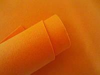 Фетр корейский мягкий, 1.2 мм, 20x30 см, ОРАНЖЕВЫЙ, фото 1