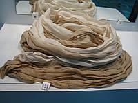 Женский шарф переход бежевый