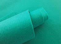 Фетр корейский мягкий, 1.2 мм, 20x30 см, БИРЮЗОВЫЙ