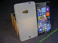 Чехол силиконовый Бампер Microsoft Lumia 535 (Nokia) белый