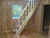 Лестницы из сосны, изготовление и монтаж
