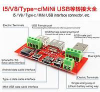 Переходник Usb папа - Usb мама - mini Usb - micro Usb - Type-C - Lightning, фото 1