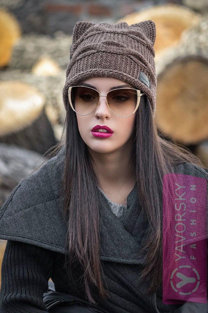 Шапка вязаная сушками - Интернет магазин женской одежды в Харькове