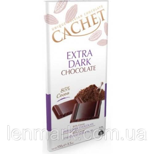 Черный шоколад  CACHET «Extra Dark» 85%г какао  100 г