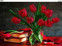 Схема для вышивки бисером Букет тюльпанов