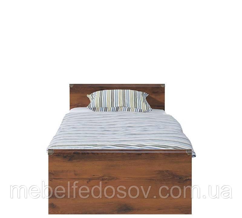 Кровать односпальная JLOZ 90 Индиана  (BRW/БРВ Украина) 975х2065х495/795мм