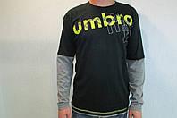 Мужской свитер Umbro черный 122805 код 121в