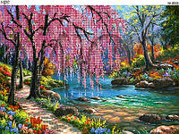 Схема для вышивки бисером Цвет сакуры