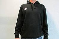 Мужская толстовка Umbro (540114) черная с капюшоном код 136в
