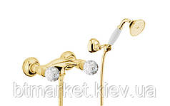 Смеситель для душа Webert Karenina с ручками Swarovsky (золото) KA760101010