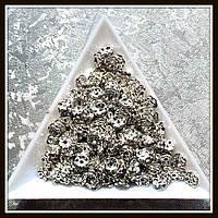 Рондель со стразами, диам. 0,5 см  (100 шт)