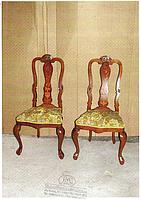 Стулья с инкрустацией, голландская коллекция, производство Franco Monzio