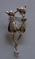 Брошь 60650ММ, серебро 925 проба, кубический цирконий.