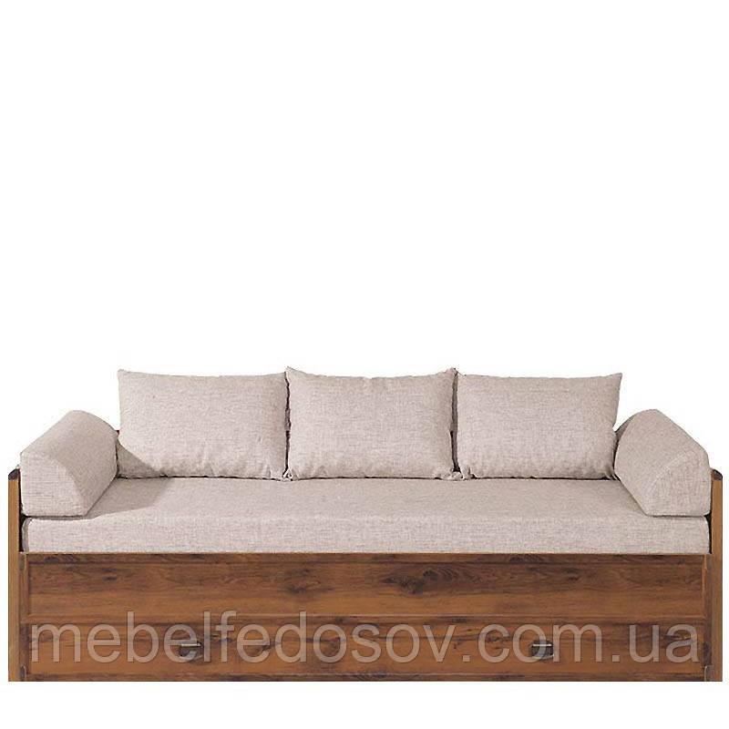 Кровать раздвижная JLOZ80_160 без матраса и подушек Индиана  (BRW/БРВ Украина) 790/1540х2020х600мм