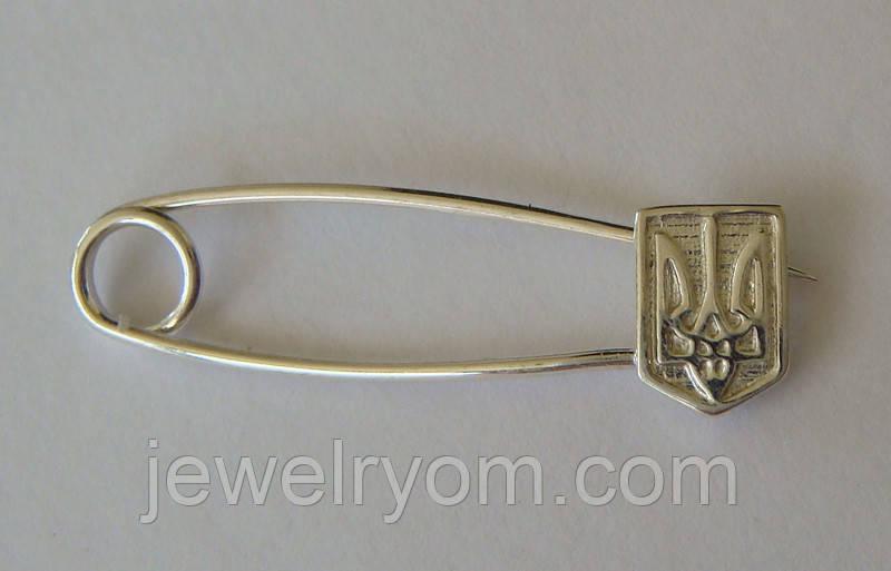 Булавка Бл90016Г, серебро 925 проба.