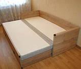 Кровать раздвижная JLOZ80_160 без матраса и подушек Индиана  (BRW/БРВ Украина) 790/1540х2020х600мм, фото 5